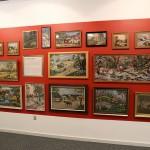 Broderede skilderier der handler om natur og kulturlandskaber