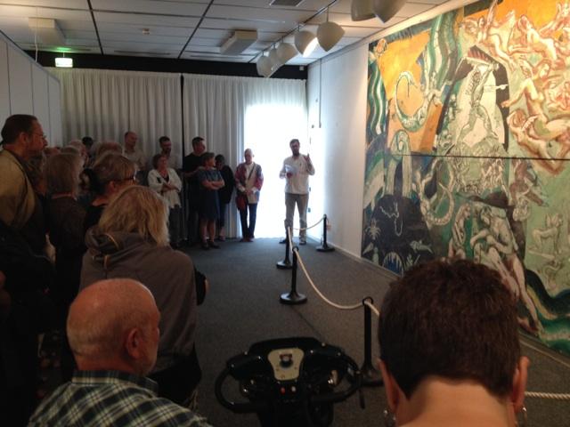 Hans V. Bang åbner udstillingen Krigen i Haderslev, maj 2014